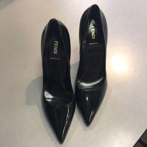 Fendi patent leather pump